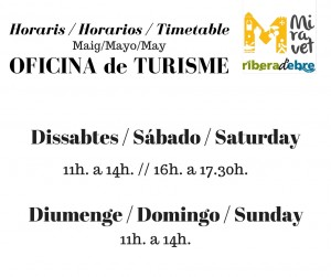 horarios oficina turismo, horaris oficina de turisme, timetable tourist office